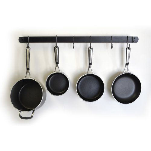 13 best images about hanging pots and pans on pinterest for Kitchen s hooks for pots and pans