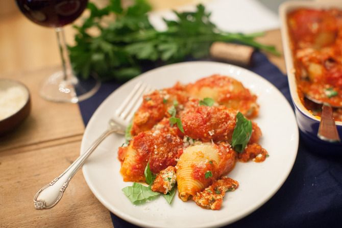 Stuffed Shells with Spinach Ricotta | Recipe | The o'jays, Shells and ...