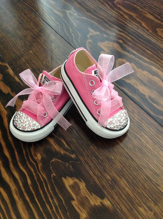 Sale Pink on Pink Bling Converse by GirlieBlingByJess on Etsy
