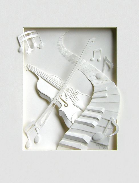 "*Paper Sculpture - ""White Music"" by Cheong-ah Hwang"