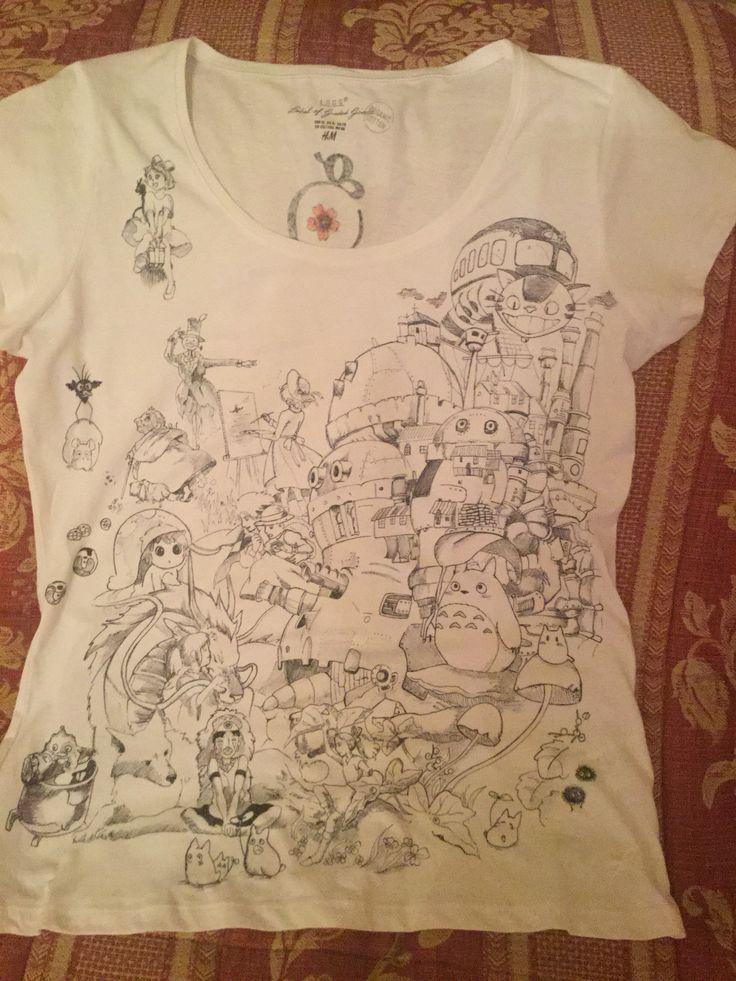 Miazaki tribute ✏️ tshirt handmade