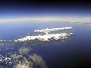 Sado Island  taken from the sky  佐渡島全貌