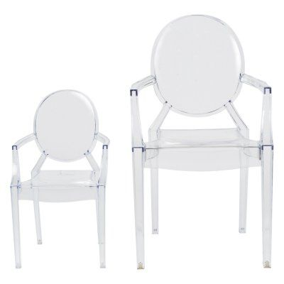 Commercial Seating Products Ghost Polycarbonate Outdoor Kids Chair With  Arms   RPC GHOST BABY