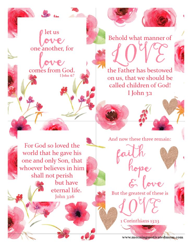 Free Bible Passage Scripture Love Printables - perfect for Valentine's Day