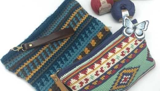 bolso de crochet patrón DIY.