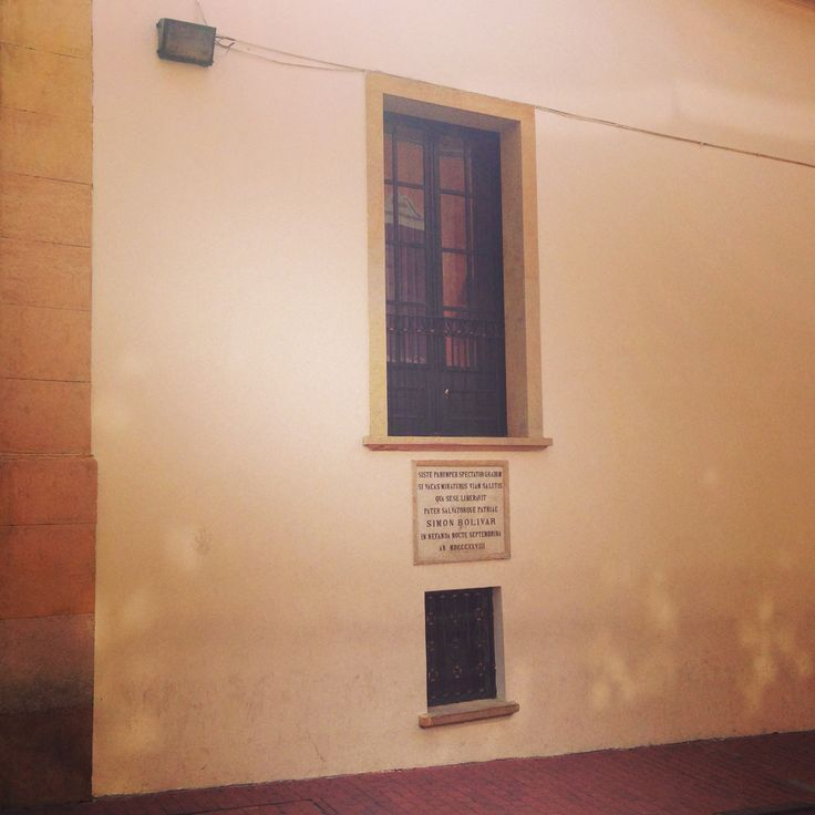 Ventana histórica de Simón Bolívar en #bogota
