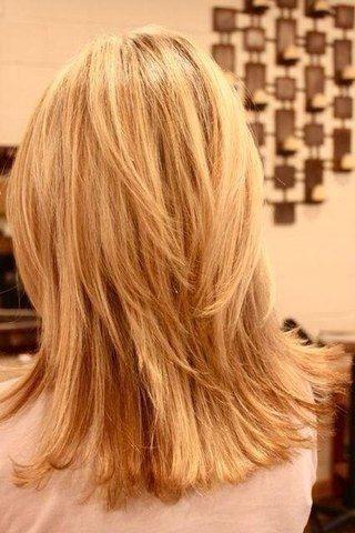 medium length layered haircut for thick hair