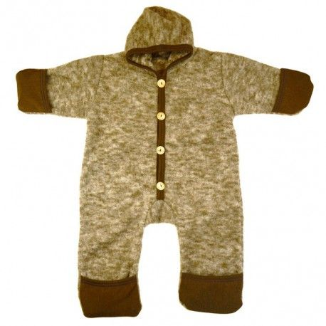 Wool overall brown melange, Cosilana