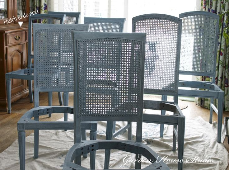 Painting Cane Back Dining Room Chairs two toned dining chairs she