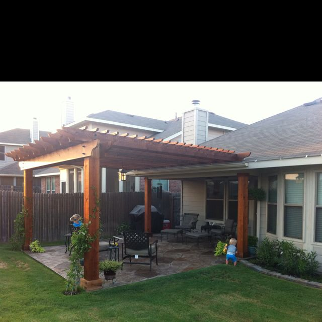 Beau Patio That Someone Needs To Build On The Back Of My House. Please. Backyard  PergolaIn The BackyardIdeas ...