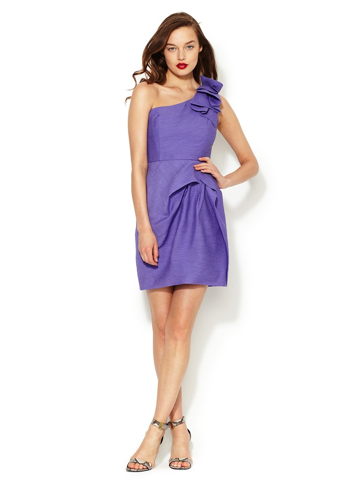 Audrey One Shoulder Dress by BCBGMAXAZRIA