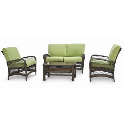 Martha Stewart Living Lanfair 4 Piece Conversation Set Pc 233 234 080 Home Depot Canada