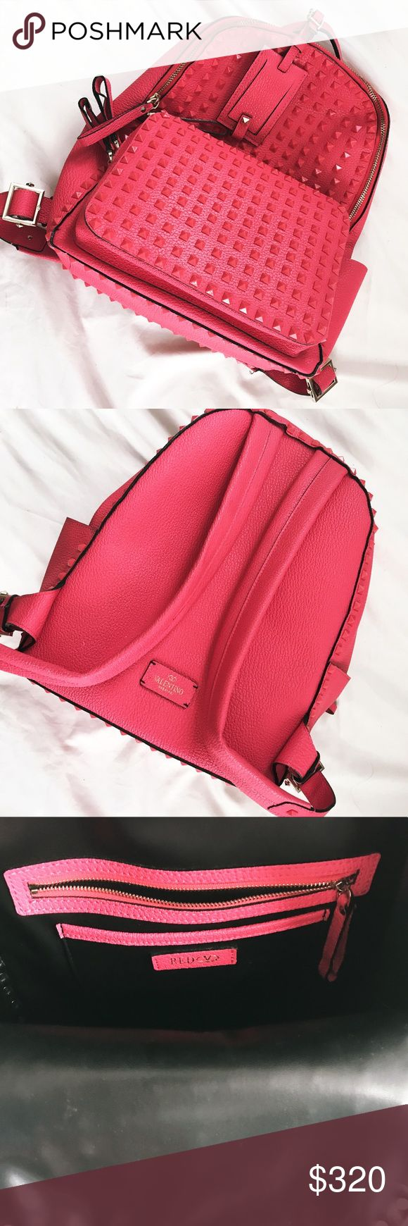 Valentino Studded Backpack Studded backpack in hot pink - this was a gift I never used it I don't know the origins of it. Looks very nice and appears to hold a lot. I have too many bags. Open to offers - price reflects authenticity because I don't know if it is or if it isn't. Valentino Bags Backpacks