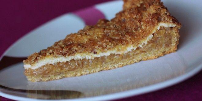 jablkový koláčik s tvarohom