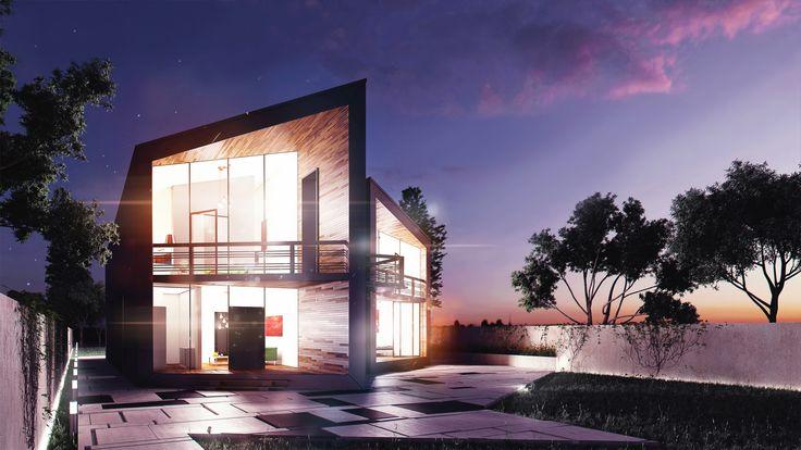 Modern house concept M.C. HOUSE Exterior Architectural VIZ