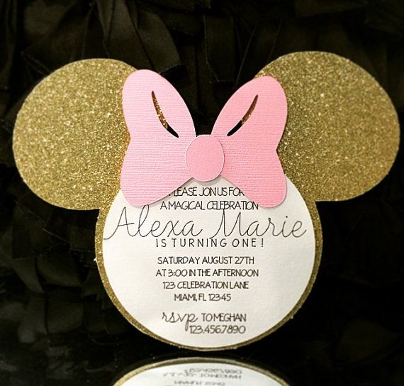 Best 25 Minnie mouse birthday invitations ideas – Golden Birthday Invitation
