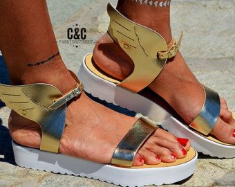Women Leather Sandals Terpsichore Strappy sandals by ccfashionstr