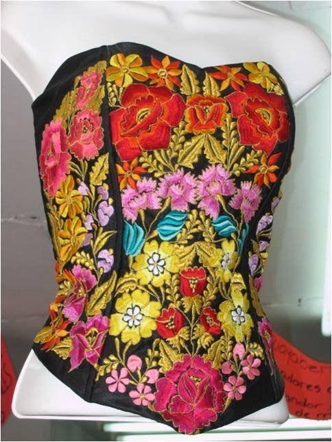 Mexican fashion corset_ hermoso