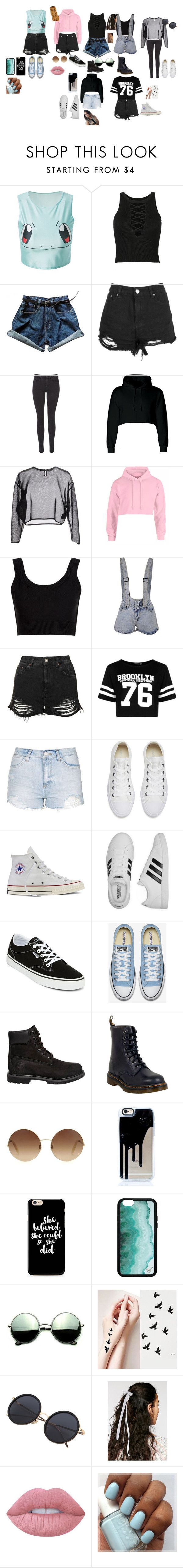 outfit goals by brielouise394 on Polyvore featuring Yves Saint Laurent, Boohoo, Calvin Klein Collection, Topshop, Maison Scotch, adidas, Converse, Dr. Martens, Vans and Timberland