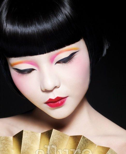 doll - Black Hair Color and Yves Saint Laurent 2 Powdery Rose CRÈME DE BLUSH Soft Blush - rosesx's Makeover - TAAZ.com