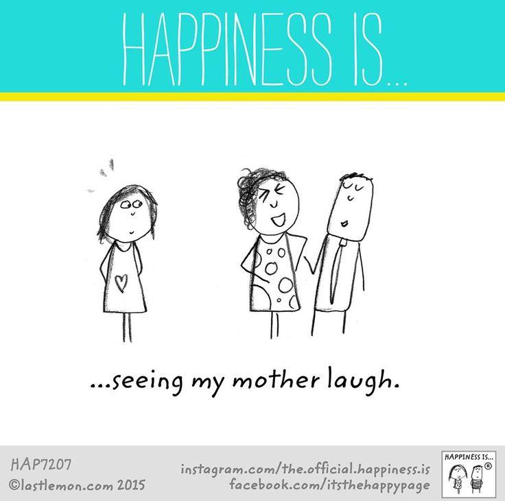 Vedere mia madre ridere