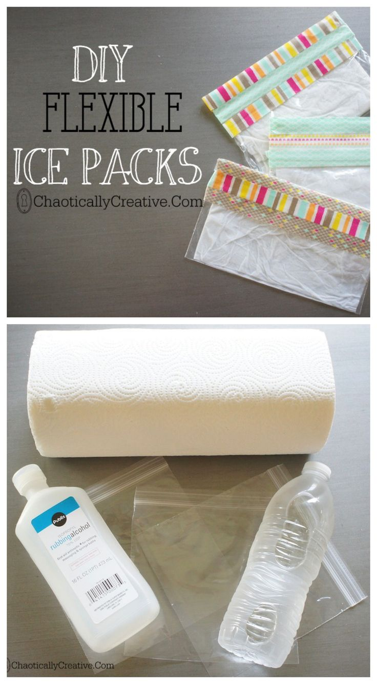 EASY & CHEAP DIY FLEXIBLE ice packs by Chaotically Creative