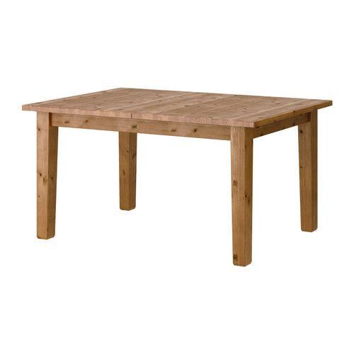 STORNÄS 伸長式テーブル IKEA 4~6人用。伸長リーフ1枚付き。必要に応じてテーブルのサイズを変えられます 伸長リーフは使わないときはテーブルトップの下に収納できます 無垢材を使用しているので、使い込むほどに風合いが増します