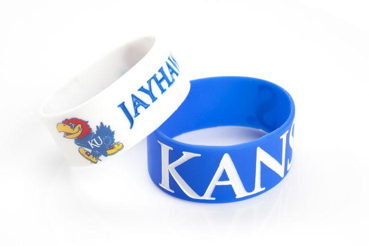 Kansas Jayhawks Bracelets - 2 Pack Wide