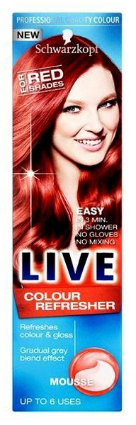 Schwarzkopf Live Colour Refresher Mousse For Red Schwarzkopf Live Colour Refresher Mousse For Red Shades 75ml: Express Chemist offer fast delivery and friendly, reliable service. Buy Schwarzkopf Live Colour Refresher Mousse For Red Shades 75ml onlin http://www.MightGet.com/january-2017-11/schwarzkopf-live-colour-refresher-mousse-for-red.asp