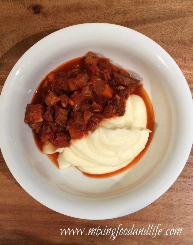Left Over Roast Pork RAGU with Mashed Potato ( Cuisine Companion )
