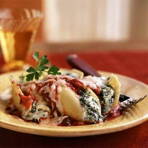 Four-Cheese Stuffed Shells with Smoky Marinara Recipe (Cooking Light)