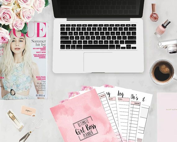 The Ultimate Girl Boss Planner is here, helping you set and smash through your goals as a girl boss, mompreneur, or goal slayer. The planner bundle is pre-sized to fit a classic or regular sized Happy Planner. This planner bundle includes the following pages in a PDF format: * Month At A Glance * Weekly Post Planner * Daily Planner * Daily Post Planner * Monthly Expenses Tracker * Monthly Income Tracker * Master To Dos * Monthly Goal Planner * Password Log * Resource Log * Stats Page * Brain…