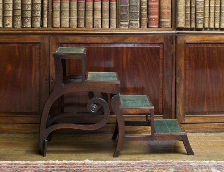 Library steps - Regency-period 'Patent Metamorphic Library Chair' by Morgan and Saunders