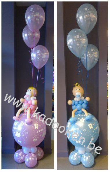Baby op bal, Geboorteballonnen, ballonnen geboorte, balloons, heliumballonnen, heliumballons, geboorte, baby uit ballonnen