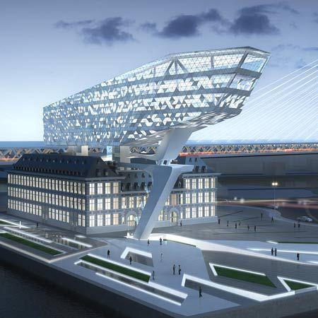Antwerp Port Authority in Antwerp, Belgium.  By Zaha Hadid Architects.