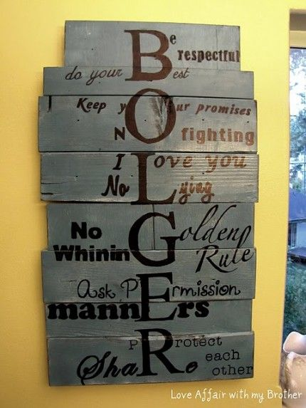 Cool idea to do a family mission statement using your last name letters!
