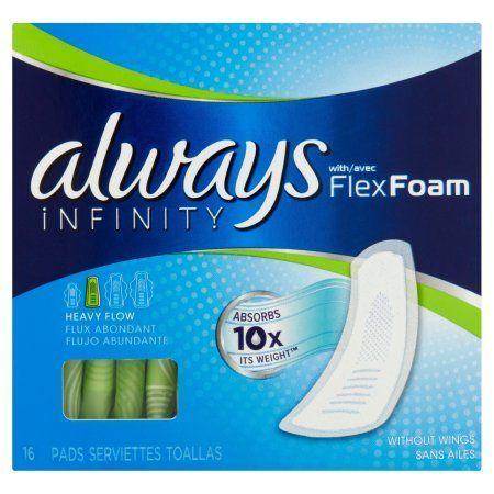 Always Infinity with FlexFoam Heavy Flow Pads - 16 CT