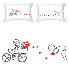 "Amazon.com: BoldLoft ""All My Love for You"" Couple Pillowcases-Cute Valentines Gifts,Valentines Pillowcases,Valentines Day Romantic Gifts,Unique Valentines Day Gifts: Home & Kitchen"