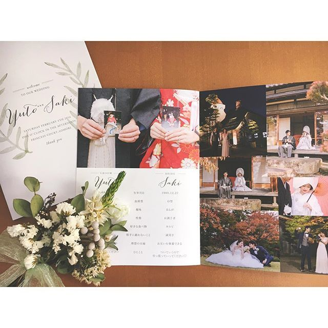 披露宴で用意したい!《プロフィールブック》の内容&タイプをインスタ花嫁さんに学ぼう☆   ZQN♡