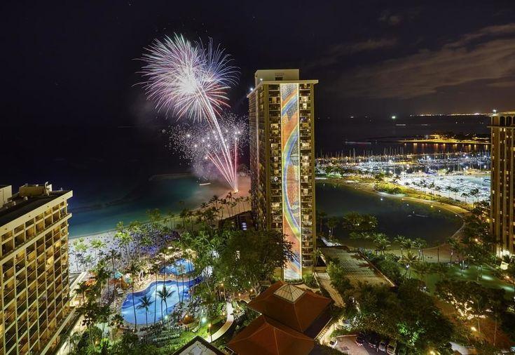 Hilton Hawaiian Village - aerial view