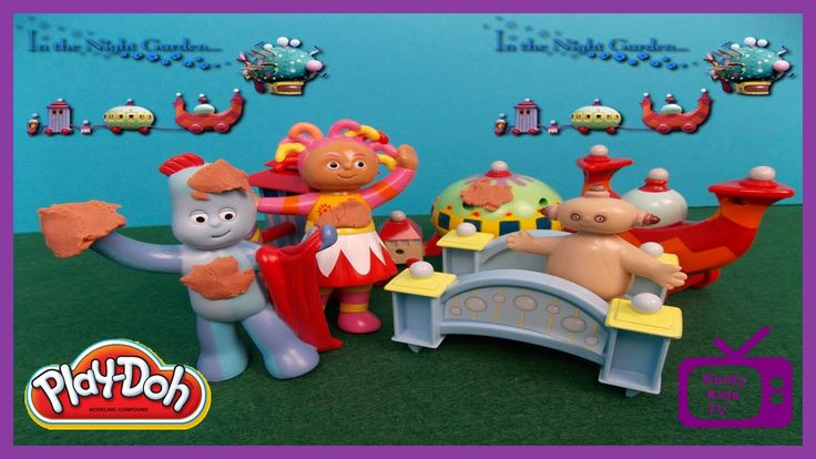 Igglepiggle and Upsy Daisy have a Play - Doh Mucky Patch. In The Night G...