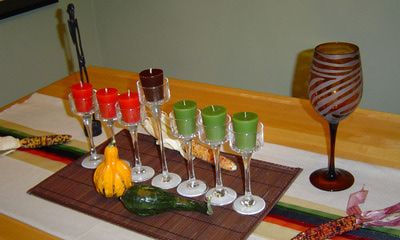 Kwanzaa Table Centerpiece| budgetdecorating.about.com
