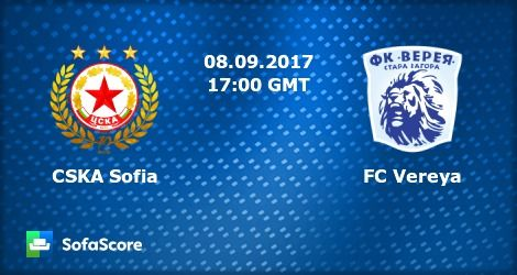 live football streaming free online | Bulgaria - Parva Liga | CSKA Sofia Vs. FC Vereya | Livestream | 08-09-2017