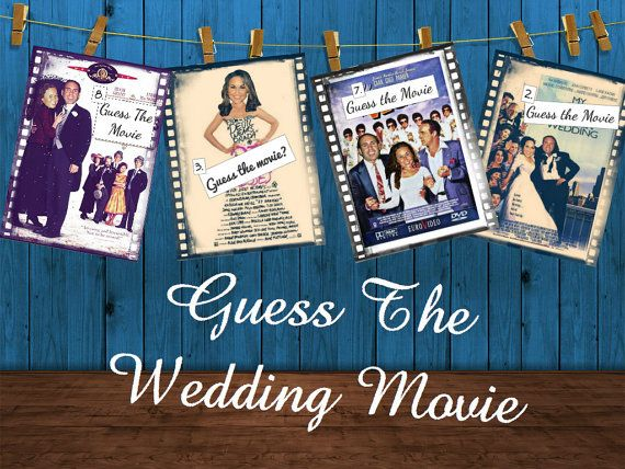 Check out Customized Guess the Wedding Movie game for a Bridal Shower!!   Etsy 31 Flavors of Design  https://www.etsy.com/listing/164369073/bridal-shower-or-bachelorette-game-guess?