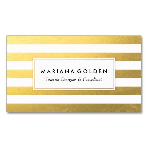 White And Gold Foil Stripe Business Card This Great Design Is Available For Customization All Text Style Colors Sizes Can Be Modified To