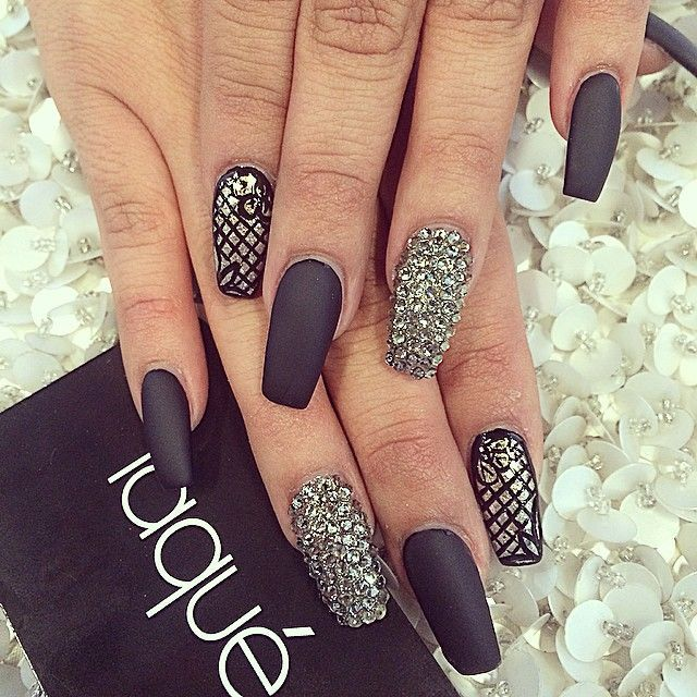 black square acrylic nails - photo #27