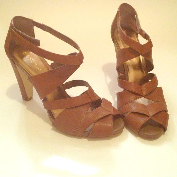 BCBGirls brown heels Really nice and versatile heels, a staple in your closet BCBGirls Shoes Heels