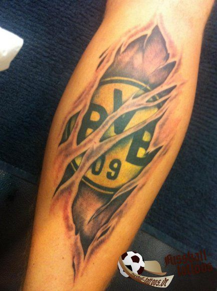 BVB Fan Tattoo --- http://www.marco-reus-trikot.de --- #BVB09 #Borussia #Dortmund #SchwarzGelb #Bundesliga #Fussball