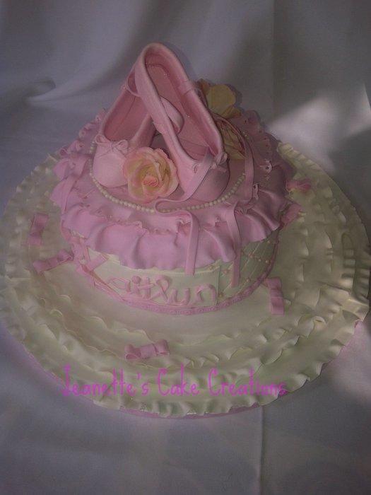 Ballet Slippers Cake