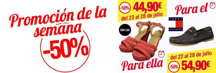 Promociones del 22 al 28 de Julio   Blog de zapatos y tendencias +Kezapatos. Esta semana, con un 50% de descuento, os traemos unas sandalias Bibi Lou para vosotras y unos mocasines Tommy Hilfiger para vosotros. Promociones todos los días en maskezapatos.com